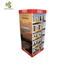 Merchandising Store Supermarket POP Cardboard Quater Pallet Display for Sports Product
