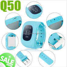 2017 promotion product Q50 kids GPS Watch Positioning Anti-Lost SOS Calling Remote Monitor GPS kid smart watch android dual sim
