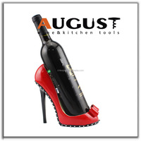 RED DECORATIVE HIGH HEEL SHOE WINE BOTTLE HOLDER BRAND NEW