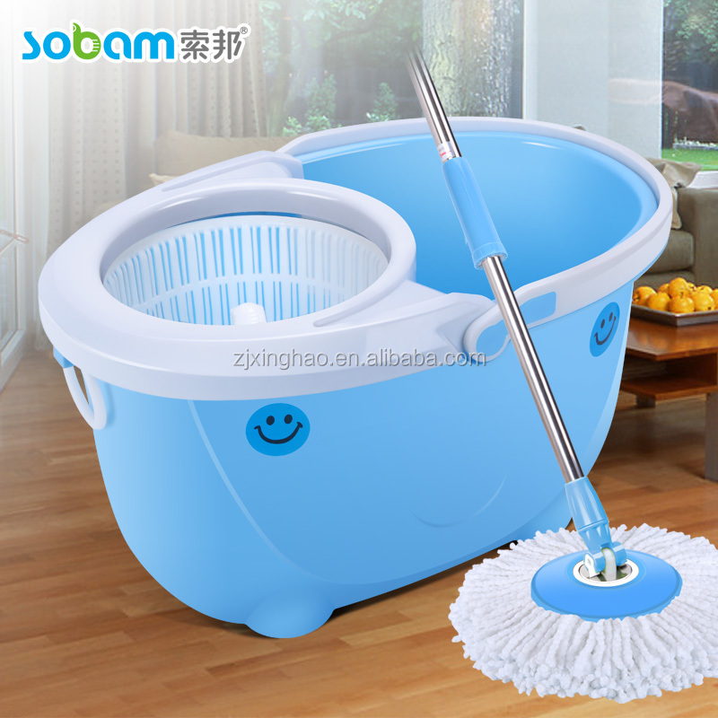 hotel and floor cleaning tools,magic mop bucket,2 microfiber