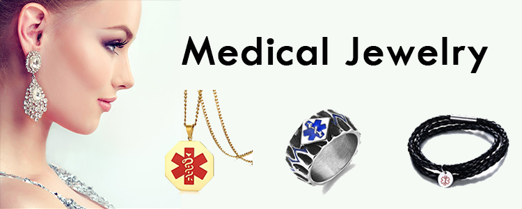 Mens medical necklace Caduceus pendant necklace
