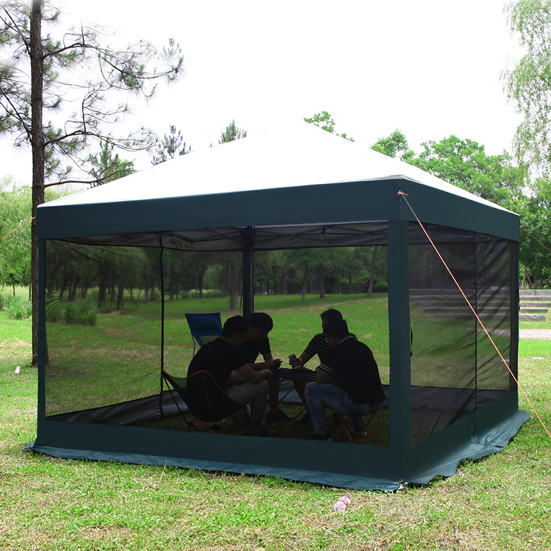 Outdoor Folding and Stretching Garden Gazebo Pop up Mosquito net Tent 10-12 people Big Space Event Tent