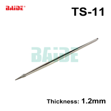 High Quality 140mm Stainless Steel TS11 Tweezers Nipper TS-11 1.2mm for Phone Repairment DIY Repair Tools