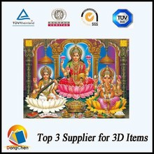 Factory selling Jesus photo 3d hindu god picture with frame