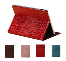 2018 hot selling luxury crocodile skin leather flip smart stand cover tablet case for iPad mini 2 3 4 Air 2 Pro