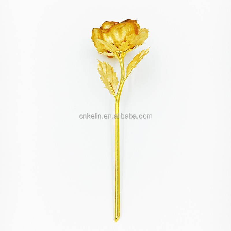19cm Romantic and Creative Gift for Lover and wedding The 24K Gold rose Dipped in excellent finishing
