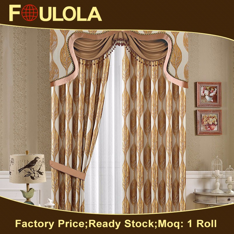 Hot Selling Factory Sale 100 % Polyester Jacquard Fabric Jacquard Sheer Curtain Fabric