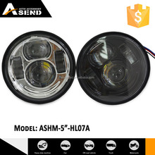 "pair sealed beam motorbike 5"" led head light for fatbob"