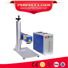Free Sample 20 Watt Metal Fiber Laser Marking Machine Pet Tag Engraving Machine Price