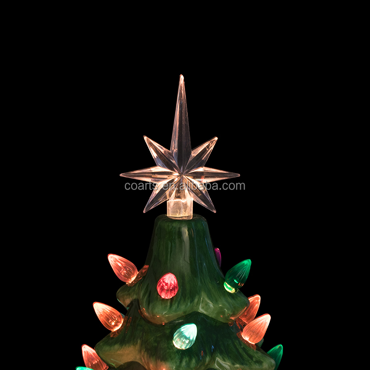 Hot artificial decoration ceramics LED christmas tree in china