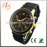 Gift japanese movement MK silicone strap watches promotional items