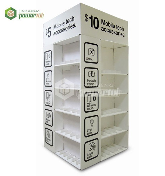 Cell Phone Accessories Merchandise Paper Stand Cardboard Display Rack