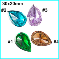 teardrop acrylic rhinestones flat back ,rhinestone sew on clothes ,18*25mm sew on Resin Rhinestone
