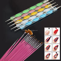 Yimart 20pcs/set Professional Nail Art Acrylic UV Gel Design Brushes Painting Dotting Pen