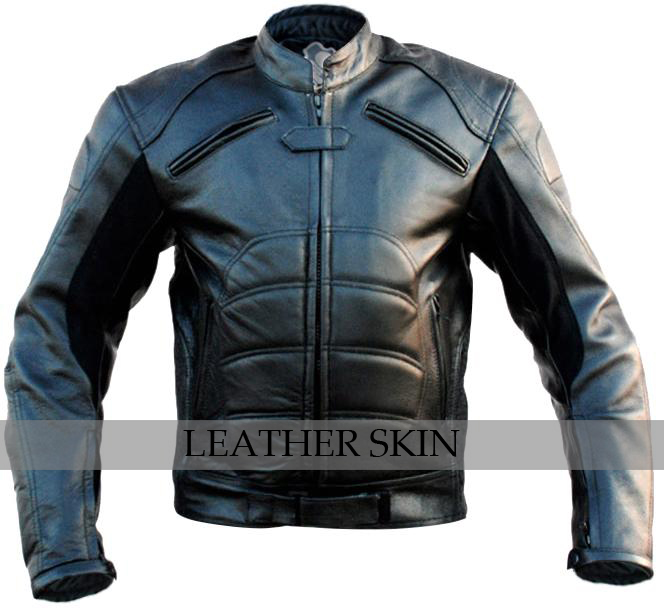 NWT Black Padded Costume Genuine Biker Motorcycle Genuine Leather Jacket - XS S M L XXL XXXL XXXXL 2XL 3XL 4XL