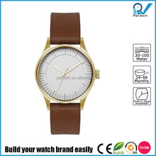 Minimalist and Simplicity design style double layers face PVD coating stainless steel 36mm case women watch