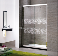 Chinese supplier 8mm patterned Glass fully enclosed shower cubicle