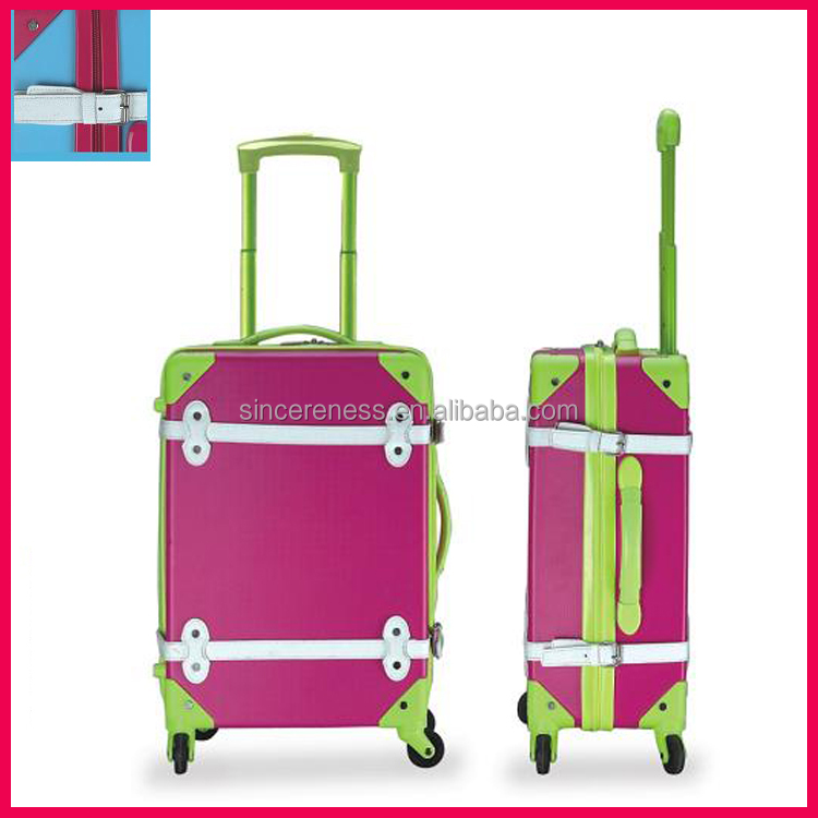 Fashion luggage bag trolley bags and luggage case for travel with spinner wheels