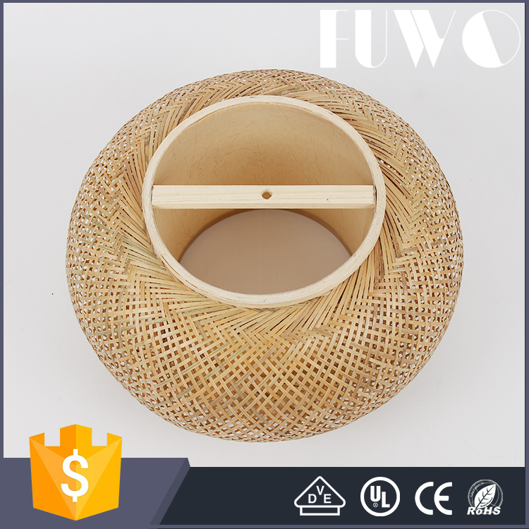 Wonderland Bamboo Wicker Handmade Pendant Light Chinese Vintage Lamp Luxury Decoration for Home/Canteen