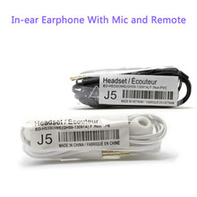 Factory outlets 20pcs/lot Cheap J5 Hands-free In-ear Headsets Headphones Earphones With Mic For Samsung Mobile Phone