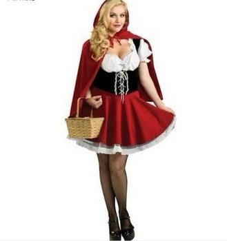 Customized Halloween costumes for women sexy cosplay little red riding hood fantasy game uniforms fancy dress