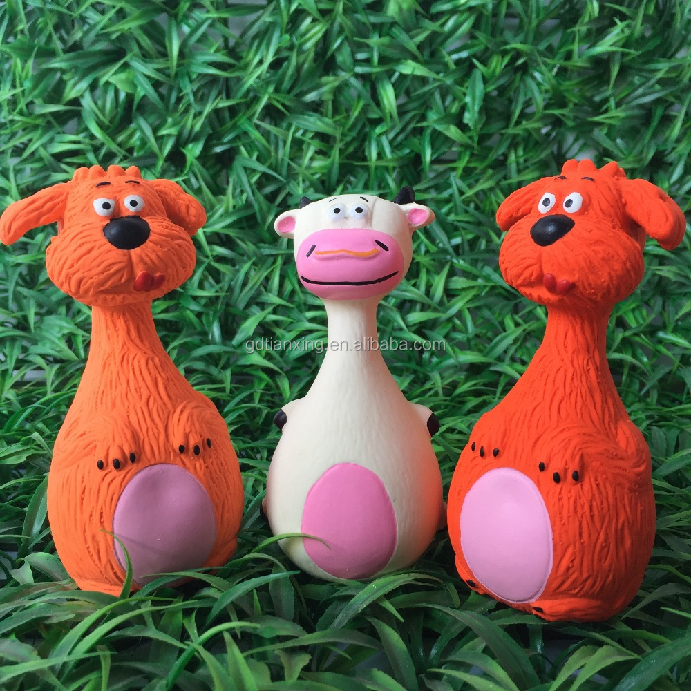 eco-friendly new animal shaped soft squeaky latex pet