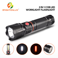 Ningbo Manufacturer Emergency Used Aluminum 5w cob led Telescopic magnetic extending flashlight