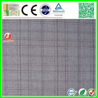 2015 new design checked polar fleece fabric for shirt