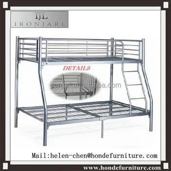 Latest Metal Bed Designs Modern Silver Triple Bunk Bed Cheap Bunk
