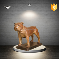 Bronze Bulldog With Base bronze sculpture