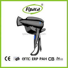 1600W Plastic Wall Mounted Hotel Hair Dryer Compact
