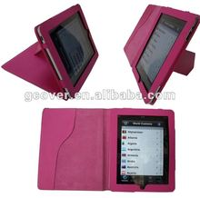Folio Book Stand Leather Case for ipad 3 Hot Selling !