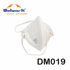 Square shape Valved Respirator with criss-corss PE cover