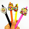 Custom character disposable plastic twist ball pen for promotion