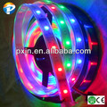 2014 china supplier fluorescein strips ws2801 5050smd 96leds/m 24w/m IP67 waterproof flexible dream color led strip