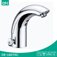 Deck Mounted Automatic Touchless Chrome Sensor Basin Faucet