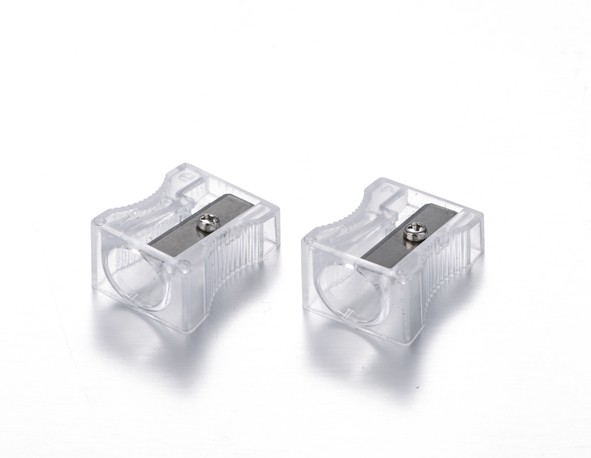 Low price transparent plastic sharpener OEM