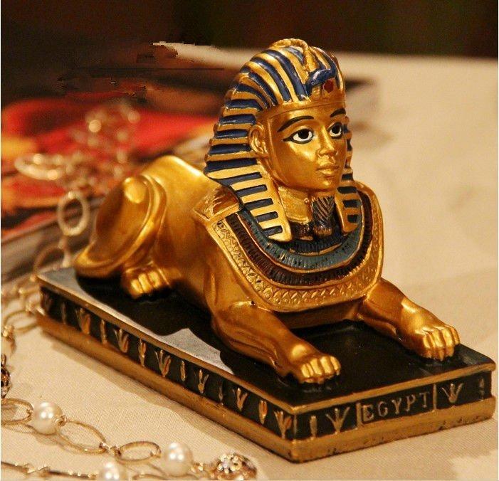 anao de jardim resumo:Sphinx Egyptian Figurine