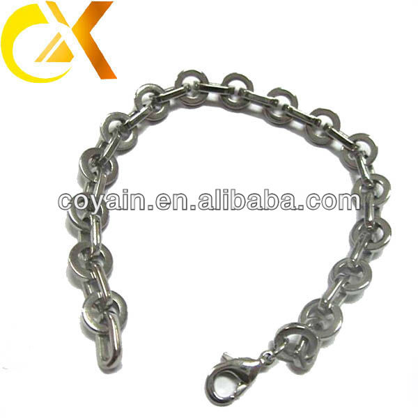 Elegant new fashion links stainless steel bracelet jewelry