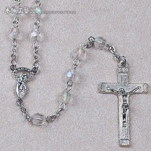 6mm facted AB plated plastic beads religion rosary necklace