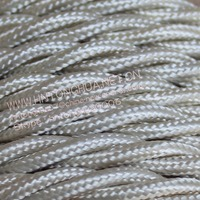 2*0.75 & 3*0.75 cream color Twisted Braided Cable Cloth Covered Copper Wire Lighting Flexible Electric cord VDE CE ROHS