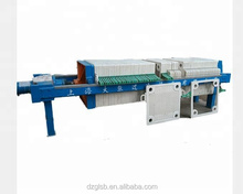 Hydraulic plate frame filter press machine for water treatment