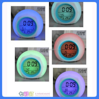 7 LED changeable digital electronic lcd calendar clock