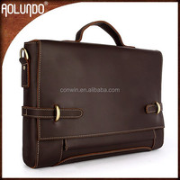 Guangzhou wholesale fashion business genuine leather briefcase for men