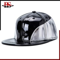 New Fashion Hip Pop Patchwork Color Snapback Cap Wholesale In Stock PU Leather Snapback Hat