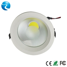 Epistar,Bridgelux chip, CE RoHs approved,cut out 140mm,CRI 80,PF0.9,3 years warranty cob dimmable led downlight 24w housing