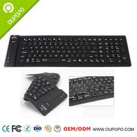 Silicone Bluetooth wireless flexible keyboard