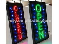 Super Bright Vertical LED open closed Sign