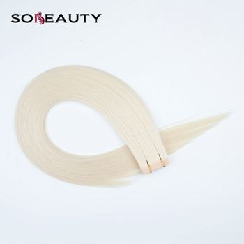 Large Stock Double Drawn Invisible Tape Hair Extension