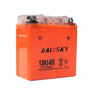 12N3-BS GEL battery 12v 3ah wet charged MF motorcycle battery for motorcycle